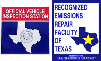 Texas Official Vehicle Inspection Station and Recognized Emissions Repair Facility
